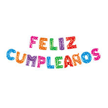 إسباني عيد ميلاد سعيد رسائل احباط بالونات الوردي الأزرق الذهب والفضة عيد ميلاد لافتات الأبجدية بالون زينة حفلة عيد ميلاد(China)