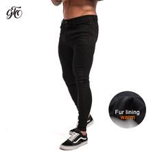 Męskie obcisłe dżinsy rurki 2019 bardzo obcisłe dżinsy mężczyzn nie zgrywanie Stretch spodnie dżinsowe w pasie duży rozmiar europejski W36 zm01(China)