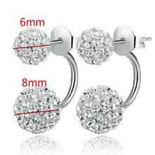 Naturalne kolczyki z kamykami dla kobiet kolor srebrny Brincos Earing Oorbellen kolczyki brinco biżuteria prezent kolczyki hurt(China)