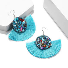 2019 Women Boincos Brand Boho Drop Earrings Fringes Vintage Ethnic Statement Earrings Charms Fashion Jewelry Gift(China)