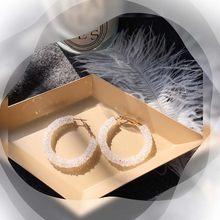 Luxo exagerado grande círculo imitação pérola brincos de fadas temperamento personalidade selvagem acessórios do casamento presente orelha jóias(China)