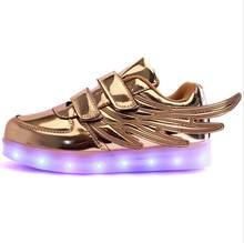 UncleJerry USB טעינה ילדי זוהר סניקרס ילדים ריצה led אורות עד זוהר נעלי בנות בני אופנה נעלי(China)