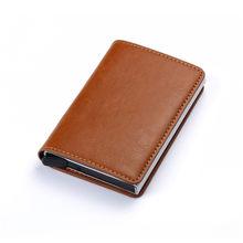 BISI GORO 2020 mode crédit porte-carte carbone porte carte en fibre porte-carte aluminium mince porte-carte courte porte-carte RFID blocage carte portefeuille(China)
