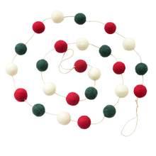 ผ้าขนสัตว์พวงหรีดคริสต์มาสตกแต่งประตูแขวนเครื่องประดับต้นคริสต์มาสมินิ Garland Tabletop เครื่องปร...(China)