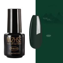 MIZHSE 7ml UV Gel Nail Polish Rose Red Semi Permanent New Nail Paint Gel 50 Colors Gel Polish Top Coat For Nail Manicure(China)