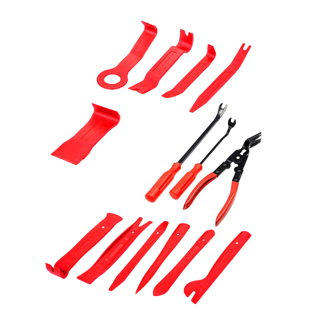 DIY 14Pcs Car Door Dash Audio Radio Removal Tool Panel Trim Install Open Pry Kit Set  Car Repair Tools