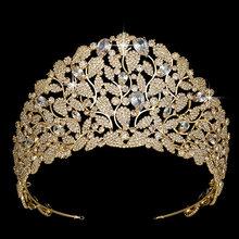 Hadiyana breloque mariée couronne diadèmes étincelant cubique Zircon couronnes pour les femmes cadeau de fête de mariage BC3920 accessoires de cheveux de mariée(China)