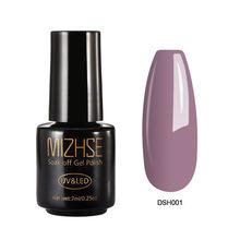 MIZHSE 7ML צבע לק הציפורניים ג 'ל פולני אמנות סדרת צבע UV LED אקריליק עבור ג' ל לכה Gelpolish shilak חצי קבוע(China)