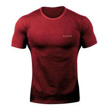 2019 nouvelle marque vêtements gymnases serré coton T-shirt hommes Fitness T-shirt Homme gymnases T-shirt hommes Fitness été t-shirts hauts(China)