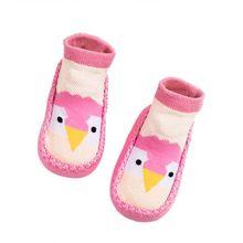 Милые носки для малышей с резиновой подошвой; носки для младенцев; коллекция 2019 года; сезон осень-зима; детские носки-тапочки; нескользящие н...(China)