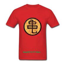 Аниме Dragon Ball Z футболки Goku мужские с коротким рукавом и круглым вырезом Топы GUI Master Roshi футболка kanji повседневные футболки летние костюмы(China)