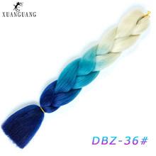 かつらビッグ編組髪かぎ針耐熱ヘアエクステンション 24 インチ合成繊維ビッグ編組(China)