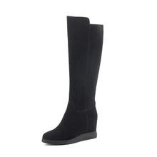 SOPHITINA Sexy Spitz Stiefel Hohe Qualität Echtes Leder Komfortable Keile Solis frauen Schuhe Mode Design Stiefel SO288(China)