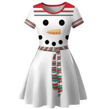 Uroczy sukienka kobiety zima Snowman boże narodzenie czerwony 1950s nuty z nadrukiem w stylu Vintage kostium huśtawka sukienka na imprezę robe hiver femme # guahao(China)