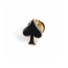Poker Bros Bros Kecil Yang Populer Poker Manset Pin dan Bros untuk Wanita Pria Seng Paduan Brocade Bros Kerah Kemeja(China)