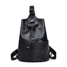 Vanderwah moda bonito mochila feminina de couro feminino mochila designer sacos de ombro para as mulheres 2018 mochila de viagem saco no peito(China)
