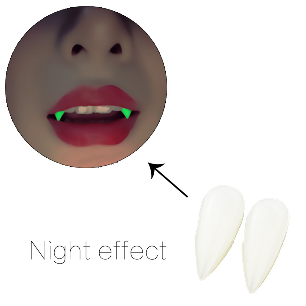 HOTUEEN Halloween Horrific Vampire Fake Teeth with Blood Pellets Cosplay Party Props Costume Makeup