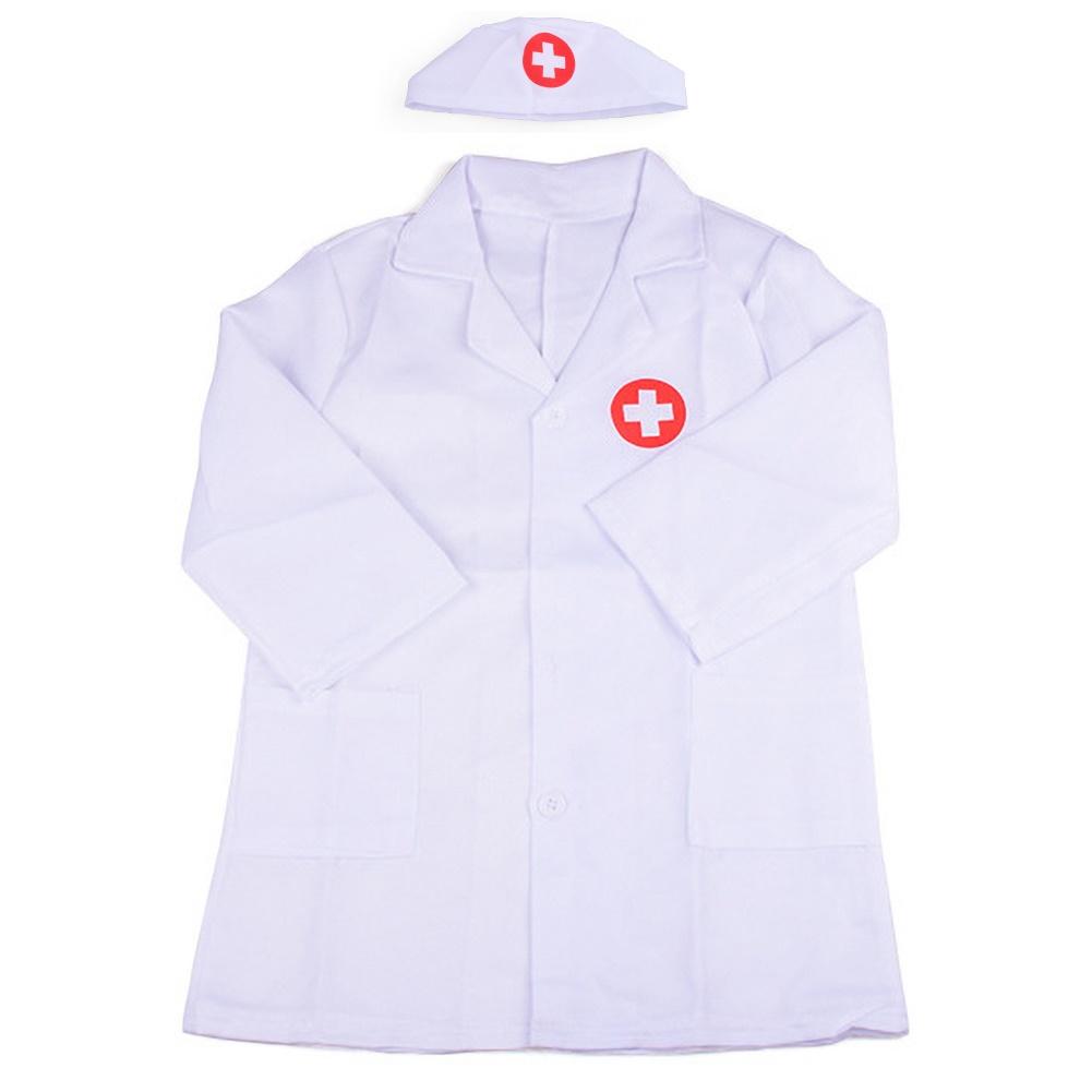 Children Kids Doctor Coat Costume Toddler Uniform Fancy Dress up Cosplay Set New