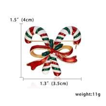 Rinhoo Natal Kruk Bros Hadiah untuk Wanita Tahun Baru Merah Topi Kepingan Salju Sarung Tangan Natal Hadiah Kotak Kaus Kaki Sepatu Berlian Imitasi Bros(China)
