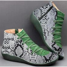 Stiefeletten Frauen PU Leder Zip Vintage Damen Flache Cross Strap Frau Plattform Schuhe Weiblichen Beiläufigen frauen Kurze Stiefel 2019(China)