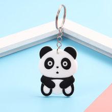 Anime Bonito Silicone Animais Keychain Bolsa Charme Chave Do Presente do Anel Chave de Cadeia para As Mulheres Jóias Pingente Chave Encantos de Natal DO PVC(China)