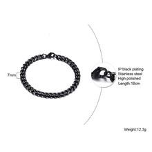3 do 11 MM szerokości czarny MIAMI kubański łańcuszek bransoletka ze stali nierdzewnej HIP HOP biżuteria LINK bransoletka 7 do 9 cali(China)