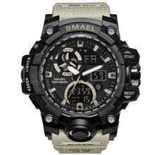 2019 SMAEL Marca de Luxo Homens Relógio LED Esporte Estilo Ocasional Militar Relógios Homens De Quartzo Eletrônico Digital Watch Relogio masculino(China)
