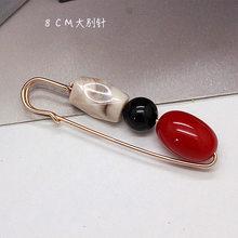 Coreana Doppio Testa di Grandi Dimensioni Perla Spille Spilla Zircone Alce Anti-luce Scialle Cardigan Maglione Sciarpa Fibbia Cappotto Donne del Pannello Esterno accessori(China)