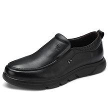 KAMEEL Nieuwe Business mannen Schoenen Echt Leer Mannen Loafer Zachte Comfortabele Koeienhuid Mannelijke Jurk Schoenen Vader Schoeisel(China)