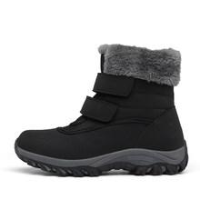 STQ Winter Frauen Stiefeletten Schuhe Weibliche Pelz Plüsch Einlegesohle Schnee Stiefel Wasserdicht Casual Schuhe Frau Slip-on Ankle stiefel M629(China)