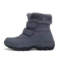 STQ kış kadın yarım çizmeler ayakkabı kadın kürk peluş astarı kar botları su geçirmez rahat ayakkabılar kadın Slip-on yarım çizmeler M629(China)