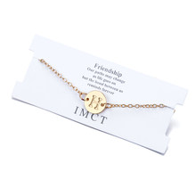 Nowy projekt A-Z list Pandent bransoletki dla kobiet regulowany złoty łańcuszek klasyczna para biżuteria dla dziewczyny najlepszy festiwal prezent(China)