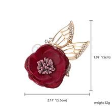 Fashion Rose Bunga Bros untuk Wanita Syal Bros Pin Fashion Perhiasan Aksesoris Hadiah Ulang Tahun 1Pcs(China)