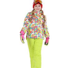 -30 crianças Terno De Esqui de Neve Terno Casacos Conjuntos Gilr Boy Roupas de Esqui Snowboard À Prova D' Água Jaqueta de Inverno Térmica Ao Ar Livre + pant(China)