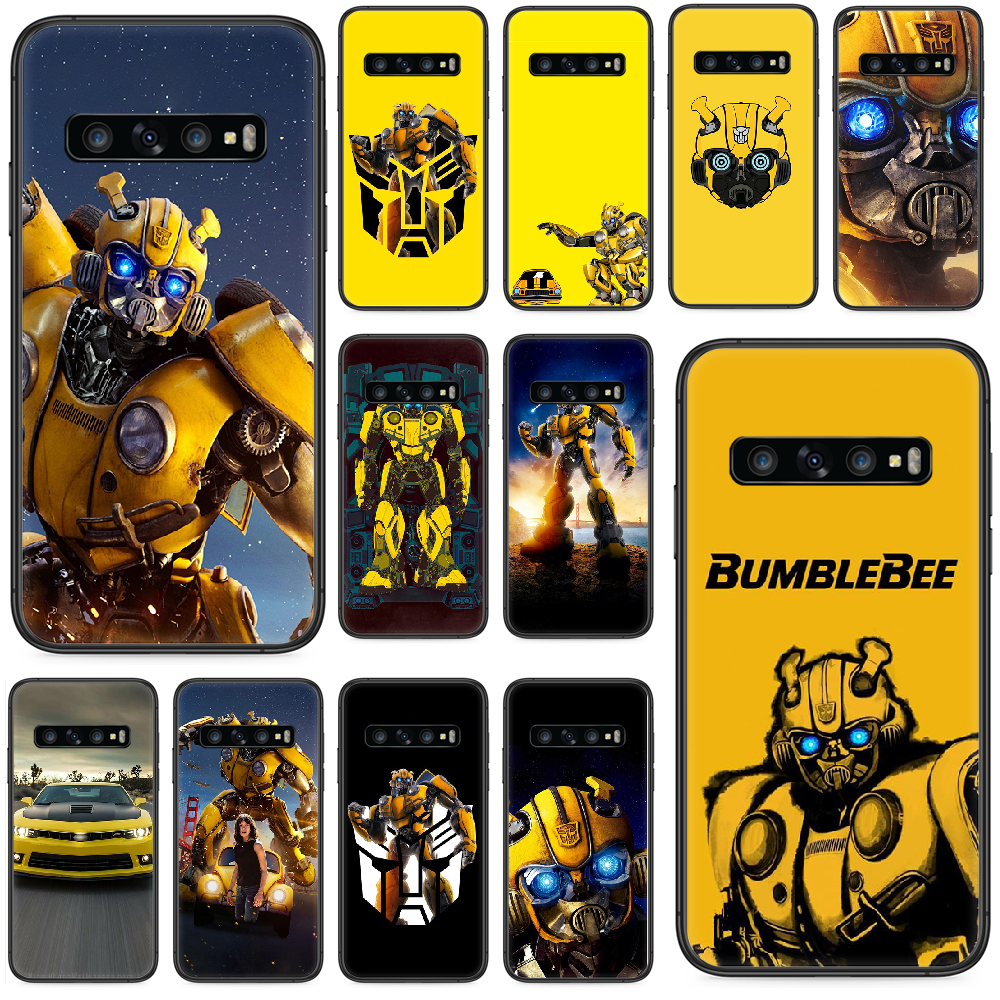 Marvel Transformers Bumblebee Hulk Phone case For Samsung Galaxy S 10 20 3 4 5 6 7 8 9 Plus E Lite Uitra black shell silicone