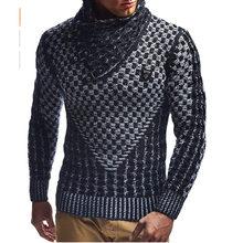 Zogaa 남자 스웨터 2019 뜨거운 따뜻한 헤지 터틀넥 풀오버 스웨터 남성 캐주얼 니트 슬림 겨울 스웨터 남자 브랜드 의류(China)