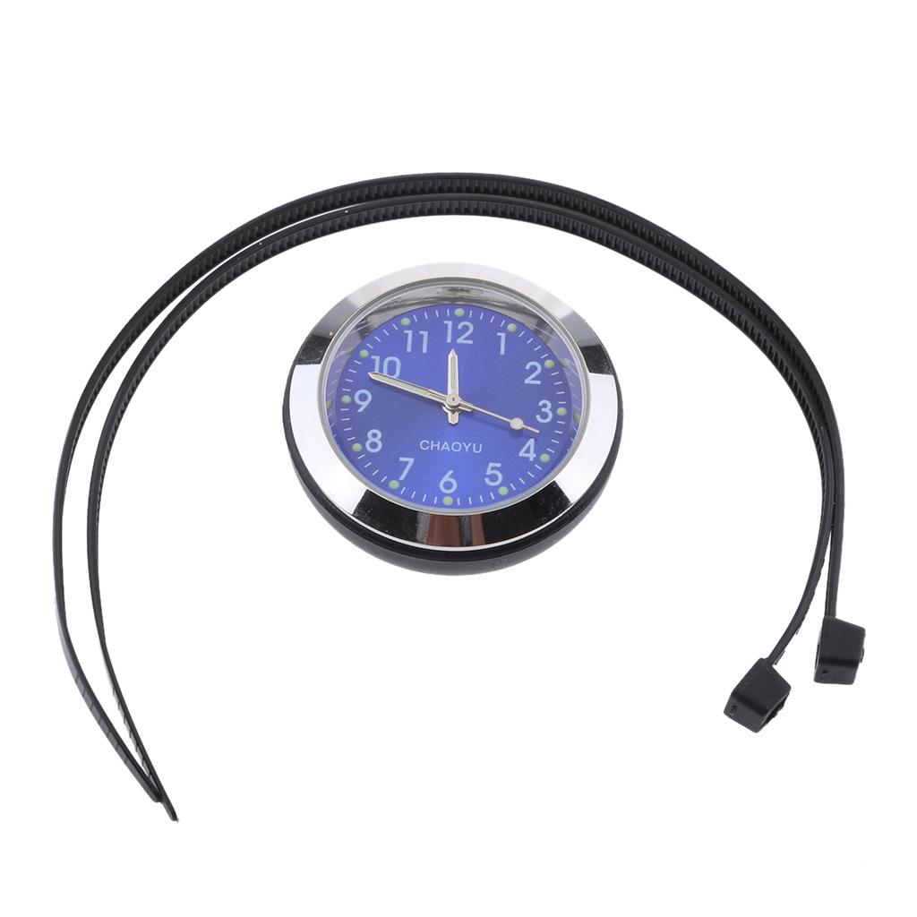Universal Motorcycle Bike Handlebar Dial Mount Clock Watch Waterproof Plastic Base Glass Lens