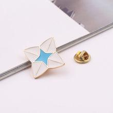 Ragazza mani luna forma dello smalto pin spilla rosso viola spilla meatl pin regali per le donne ragazze amicizia pins gioielli nuovo design(China)