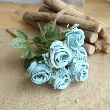 30 Cm 6 Kepala Mawar Sutra Peony Buatan Bouquet Palsu Bunga Rumah Pernikahan Dekorasi Kamar(China)