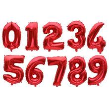 16/32 אינץ מספר רדיד אלומיניום בלון עלה זהב כסף כחול דיגיטלי הליום מסיבת יום הולדת קישוט תינוק מוצרי אמבטיה globo(China)