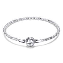Pulseira 925 prata esterlina pulseira femme floco de neve coração olho azul femme cobra corrente pulseiras & pulseiras feminino jóias(China)