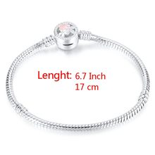 באיכות גבוהה 17-21cm כסף מצופה נחש שרשרת קישור צמיד Fit אירופאי קסם צמיד לנשים DIY תכשיטים ביצוע(China)