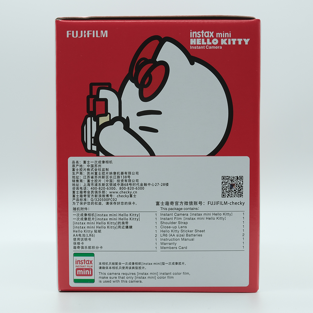 Fujifilm Instax Mini 8 HelloKitty Limited Edition Instant Photo Film Camera Kids Children Girl Gift Premium build quality