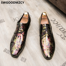 Coiffeur/элегантная обувь для мужчин; Мужские вечерние туфли с острым носком; Вечерние модельные туфли из лакированной кожи; Мужская официальна...(China)