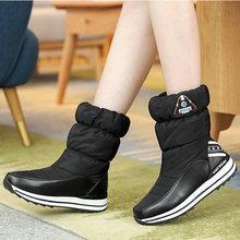 Chất lượng cao Nữ Ủng chống thấm nước chống trơn trượt lông dày dặn nữ mùa đông Giày nền tảng giày cho nữ size 34 -40(China)