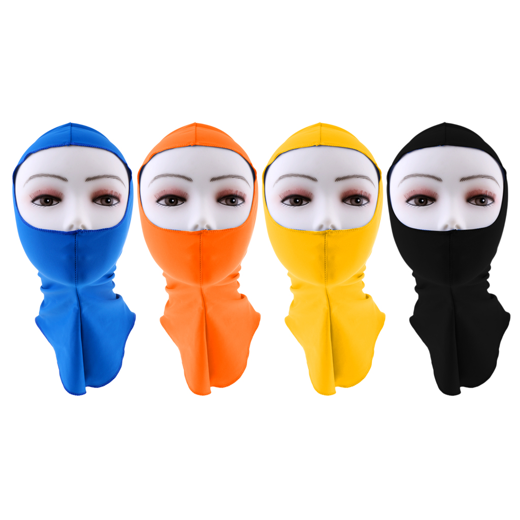 Unisex Pool Mask Head Sunscreen UPF 50+ UV Sun Protection Face Mask Guard Swim Cap