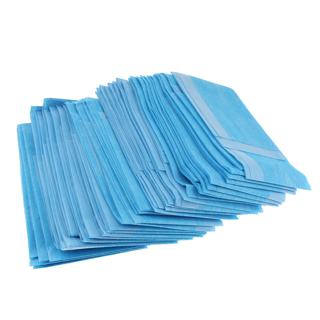 60Pcs Hospital Disposable Non-Woven Anti-seepage Underpads, Waterproof Incontinence Bed Pads, Washable Incontinence Underpads