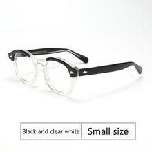 Ретро Круглый Ацетатный синий светильник, оправа для очков, мужские очки с прозрачными линзами, брендовые дизайнерские очки по рецепту, очк...(Китай)