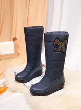 FEDONAS kadınlar oyalamak aşağı orta buzağı çizmeler kış yeni kadın büyük boyut platformu kar botları rahat ayakkabılar kadın uzun sıcak çizmeler(China)