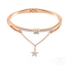 Moda różowe złoto srebro luksusowe duże cyrkon bransoletka wysokiej jakości charmsy z kryształkami bransoletka dla kobiet dziewczyn prezent(China)